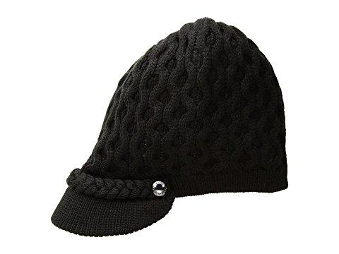 Calvin Klein Honeycomb Cable Cabbie Hat In Black