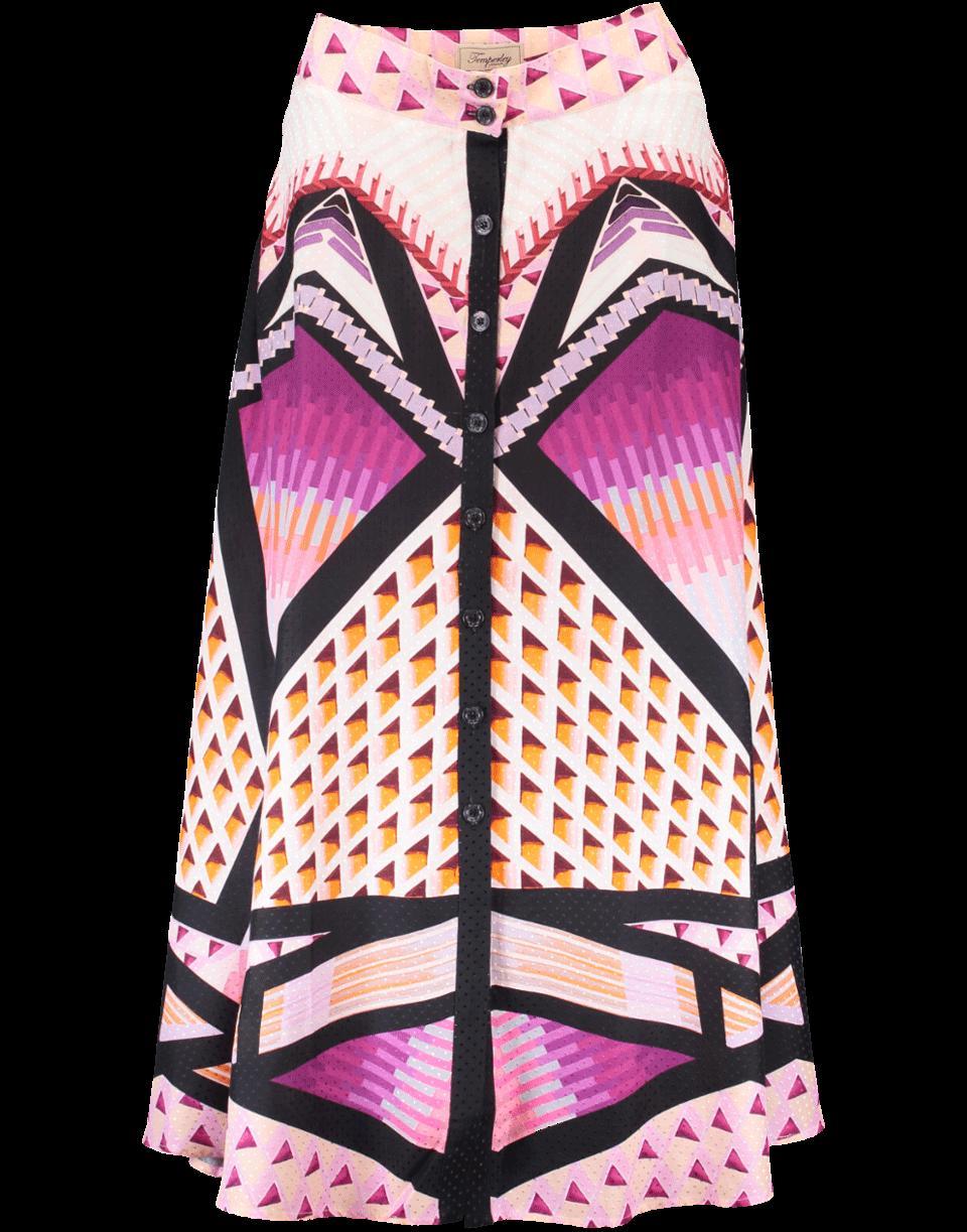 Temperley London Sun Shade Skirt In Lilac