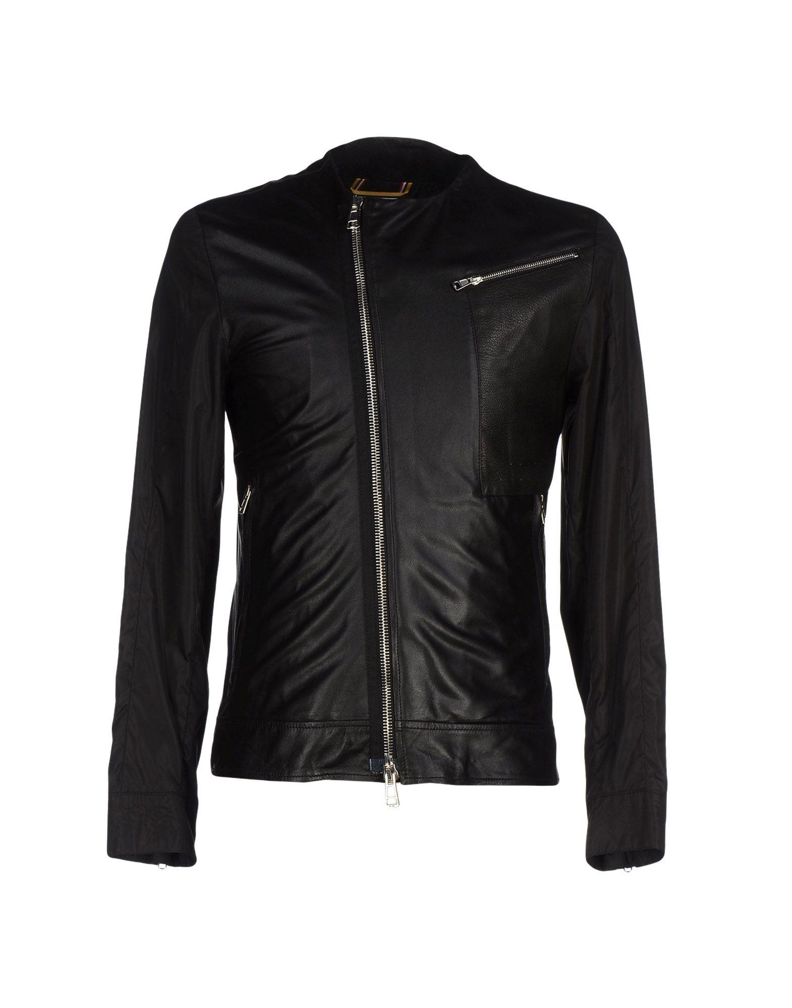 Low Brand Leather Jacket In Black