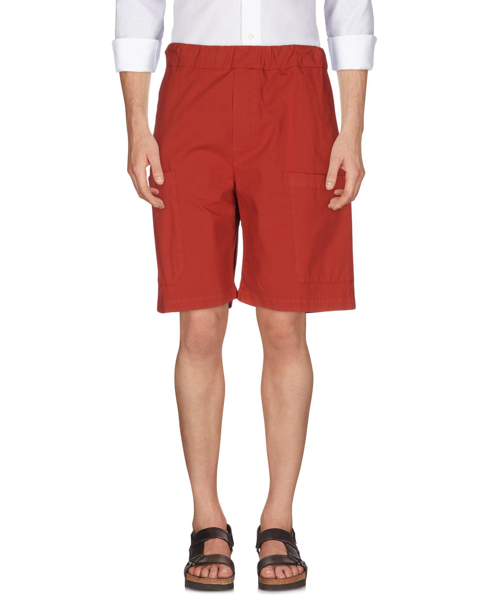 Low Brand Shorts & Bermuda In Brick Red