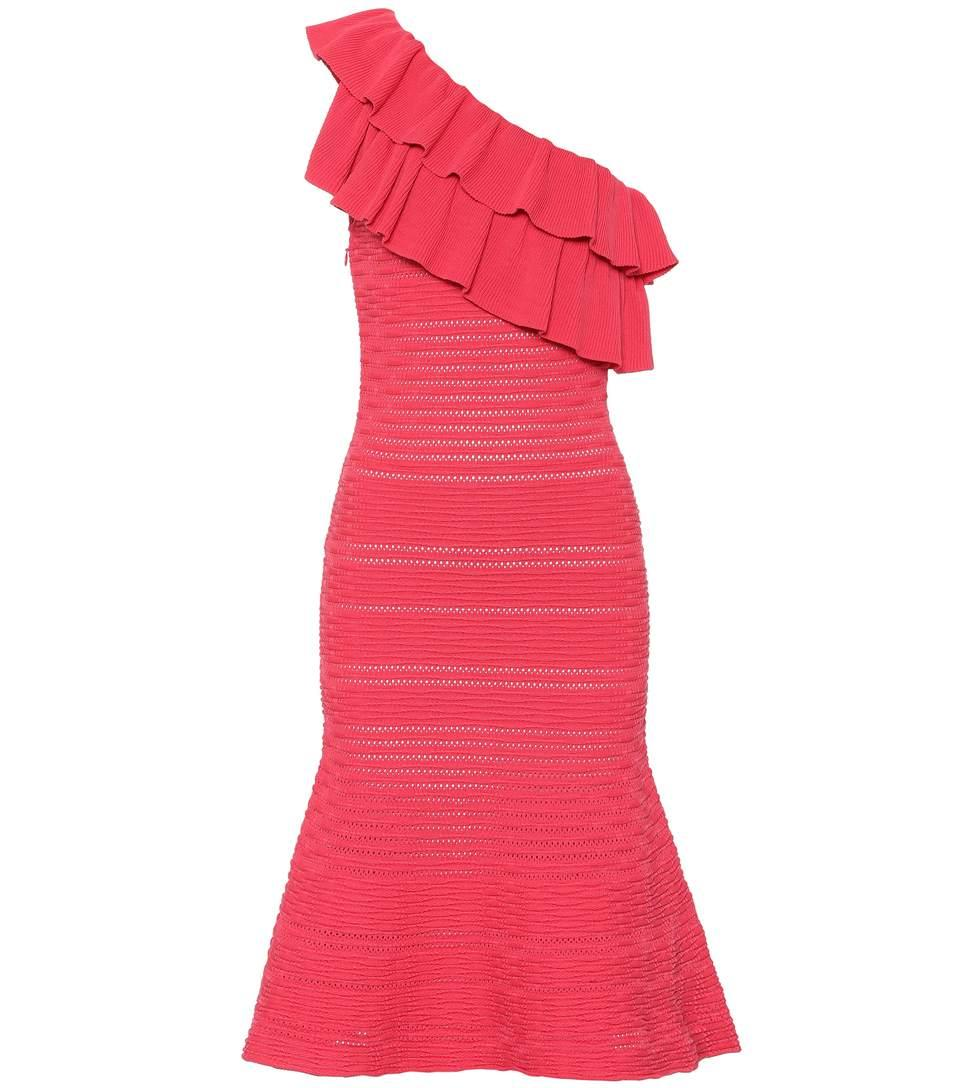 Rebecca Vallance Chiara Knitted Dress In Red