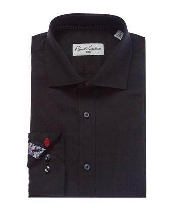 Robert Graham Flam Dress Shirt In Black