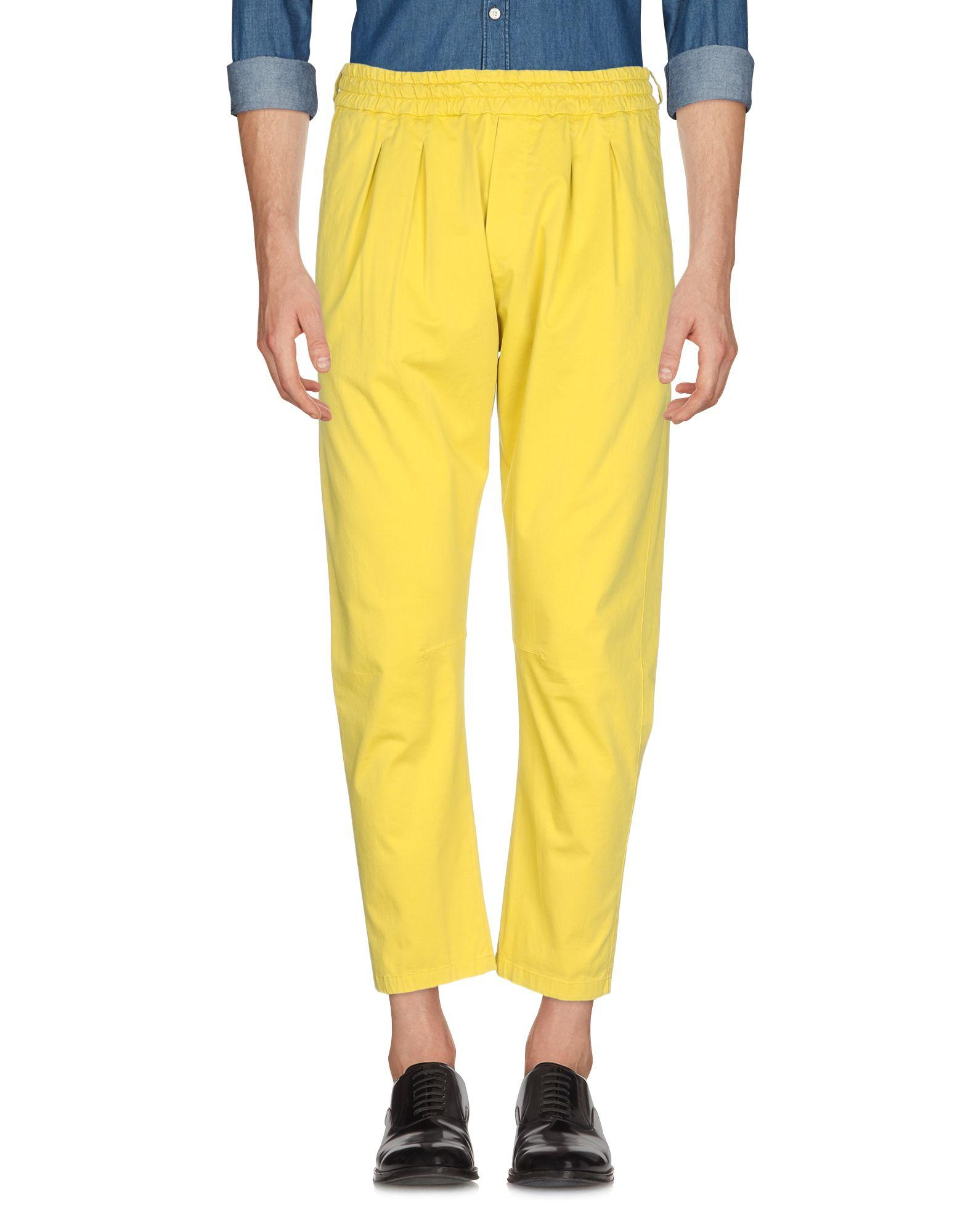 Low Brand Casual Pants In Acid Green
