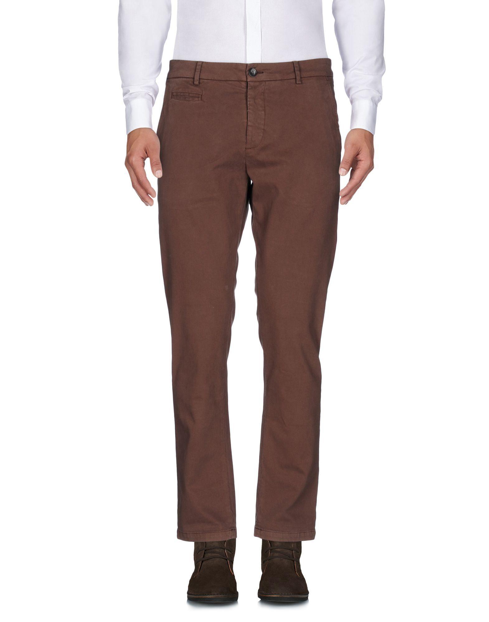 Low Brand Casual Pants In Dark Brown