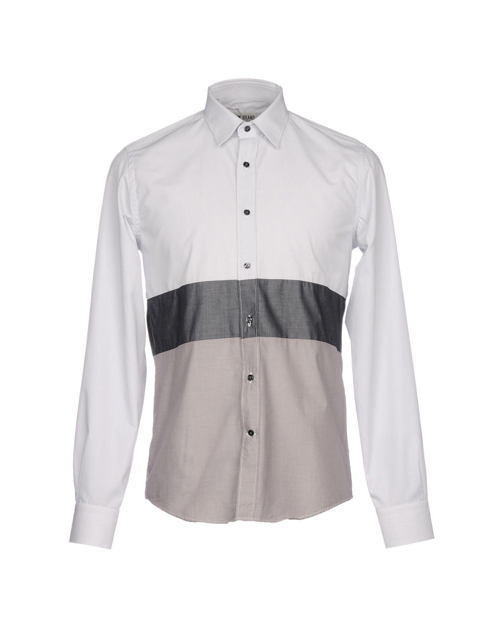 Low Brand Striped Shirt In Grey