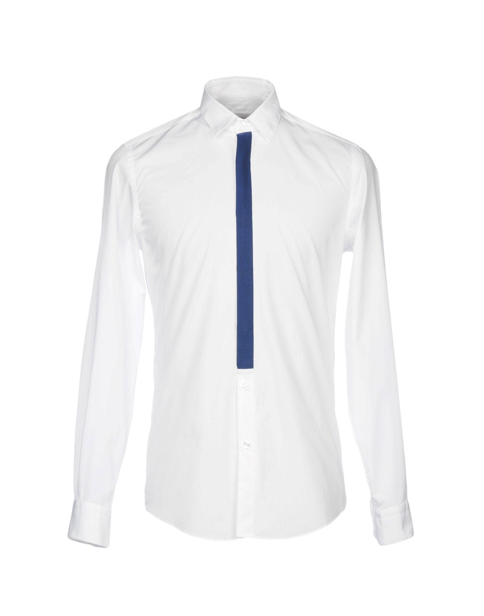Low Brand Solid Color Shirt In White
