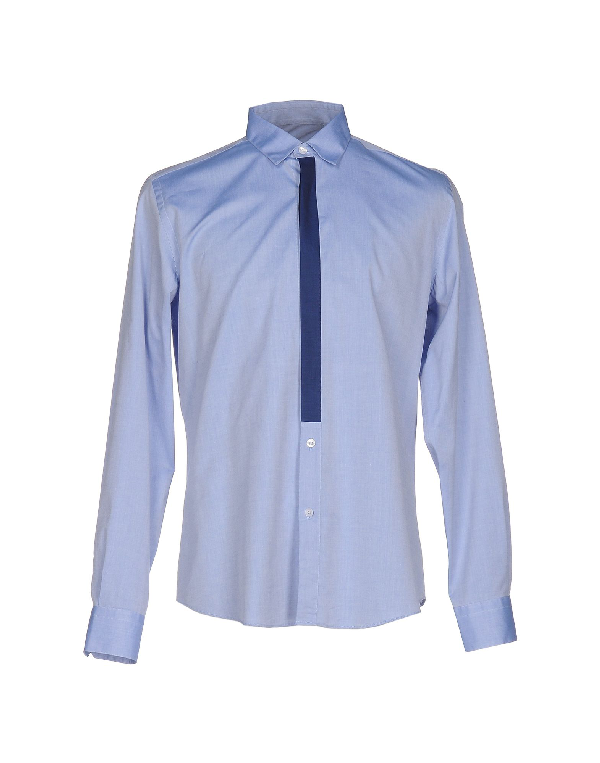 Low Brand Solid Color Shirt In Sky Blue