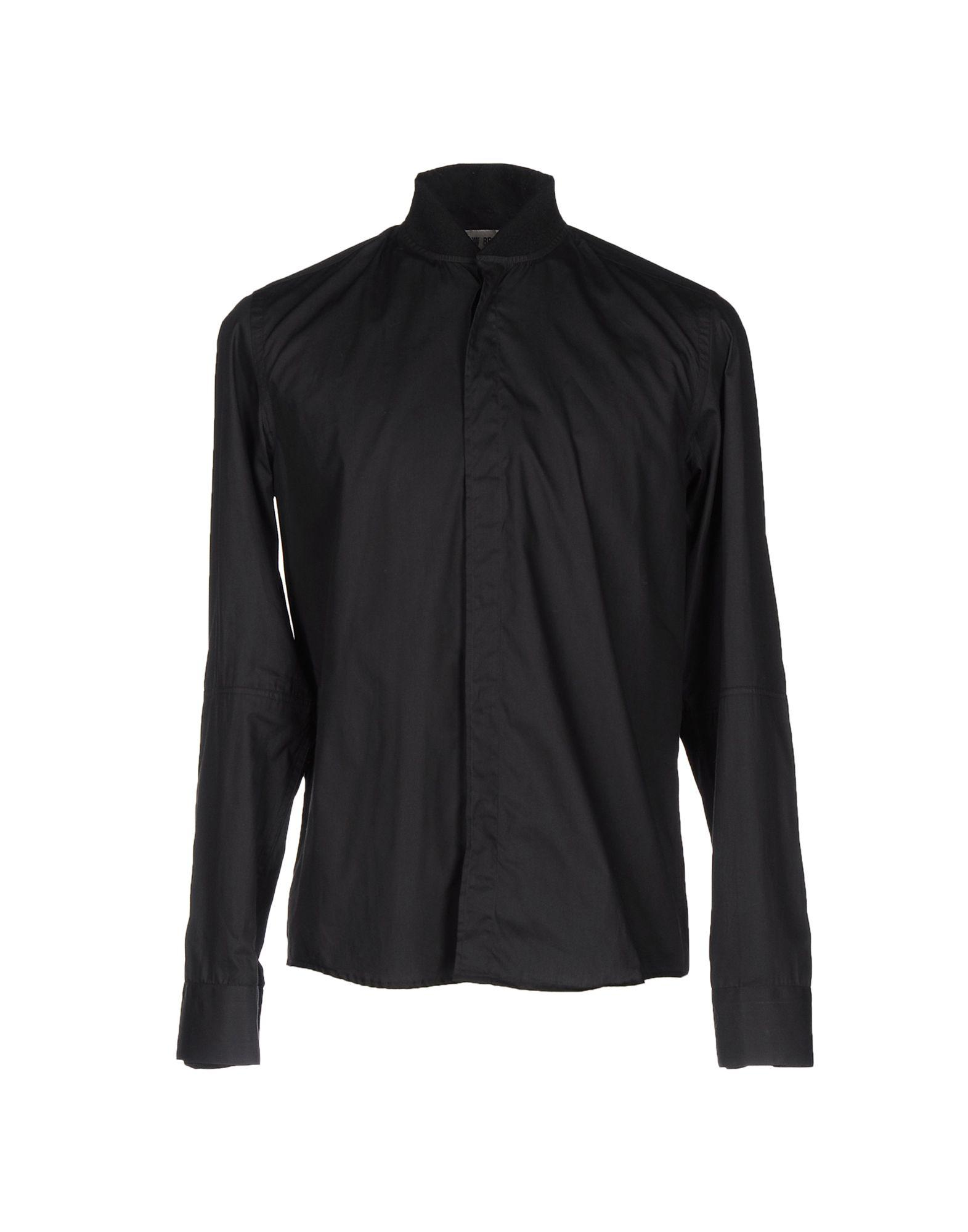 Low Brand Solid Color Shirt In Black
