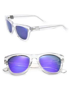 Westward Leaning Pioneer Seven 53mm Square Sunglasses In Clear Purple