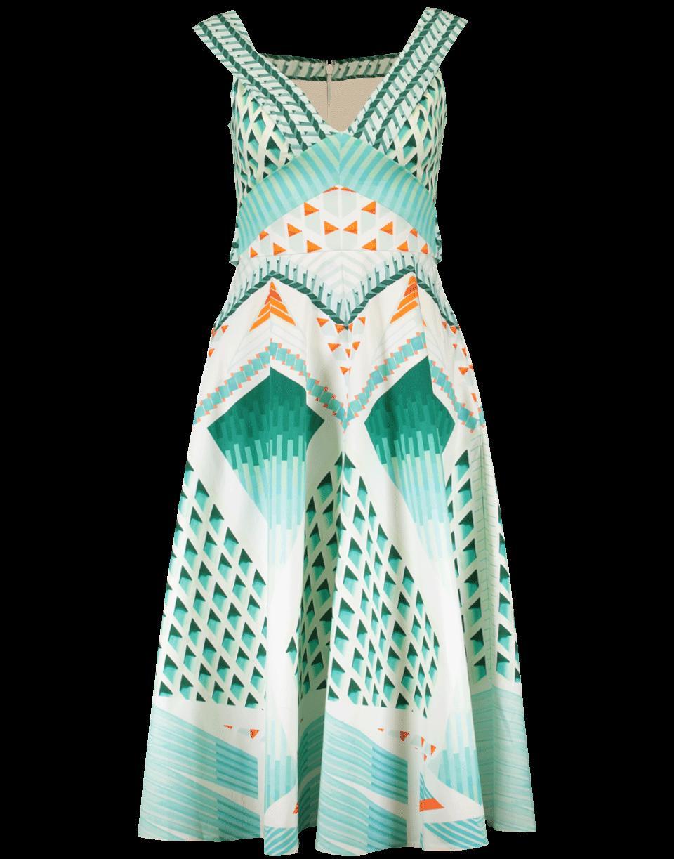 Temperley London Sun Shade Dress In Aperol