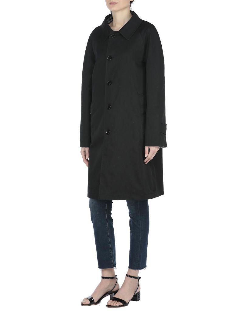Burberry Reversible Raincoat In Black