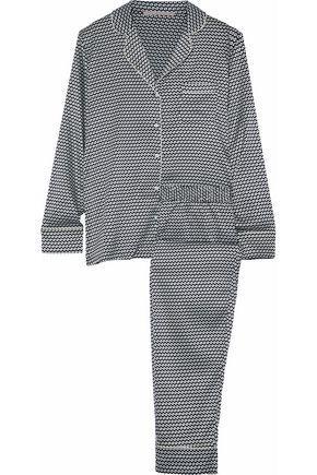 Stella Mccartney Woman Printed Stretch-silk Pajama Set White