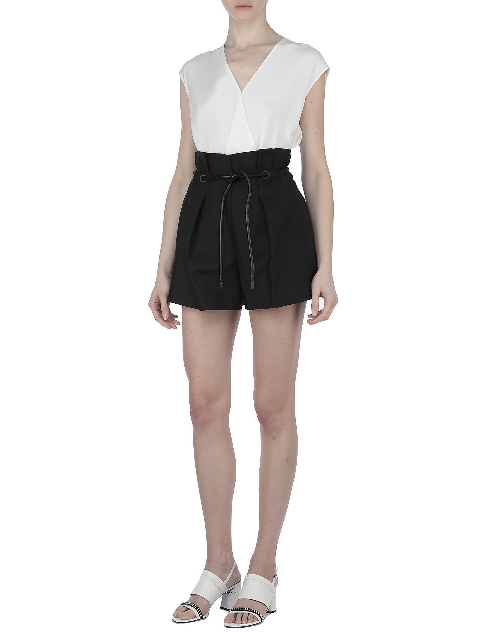 3.1 Phillip Lim Cotton Blend Shorts In Black