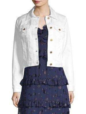 Michael Michael Kors White Denim Jacket