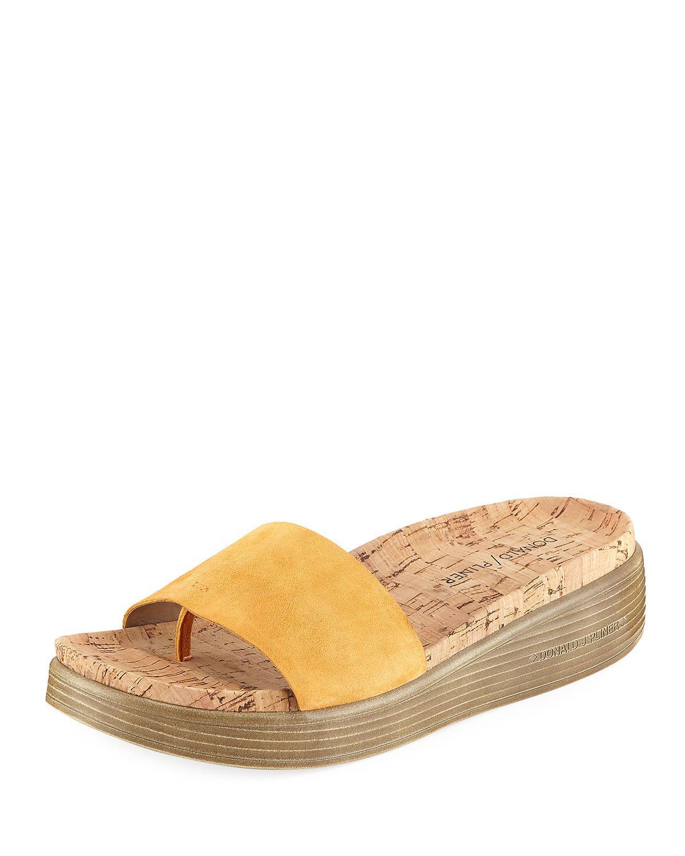 019b6b2738d Donald J Pliner Fiji Suede Cork Slide Sandal In Mango