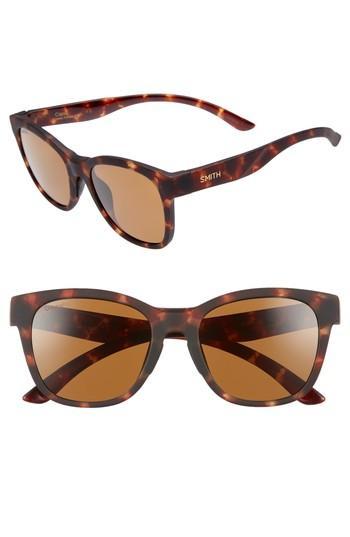 Smith Caper 53mm Chromapop(tm) Polarized Square Sunglasses In Matte Tortoise