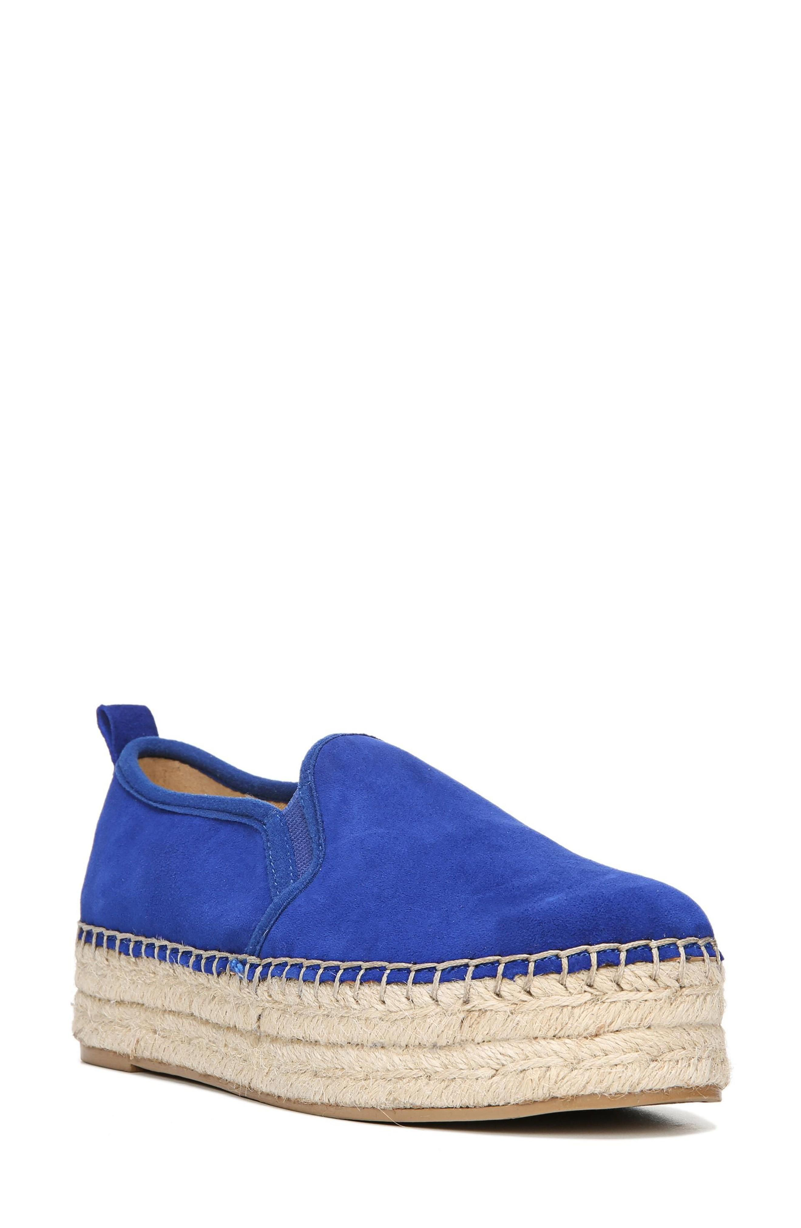 8533883f3 Sam Edelman 'Carrin' Espadrille Flat In Nautical Blue Suede | ModeSens