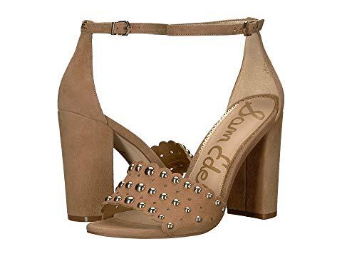 a1d994b16 Sam Edelman Women s Yoshi Open Toe Studded Suede High-Heel Sandals In  Golden Caramel Kid