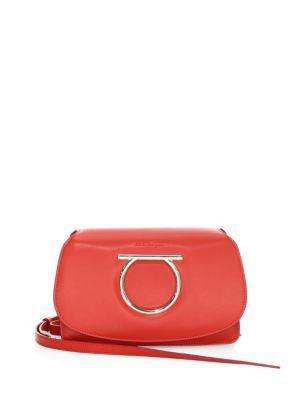 144592c9bd27 Salvatore Ferragamo Gancio Vela Smooth Leather Crossbody Bag In Lipstick
