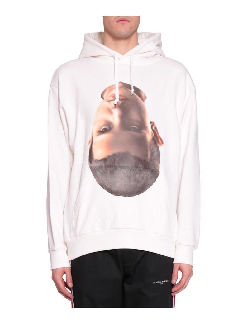 Ih Nom Uh Nit Baby Face Cotton Hoodie In Bianco