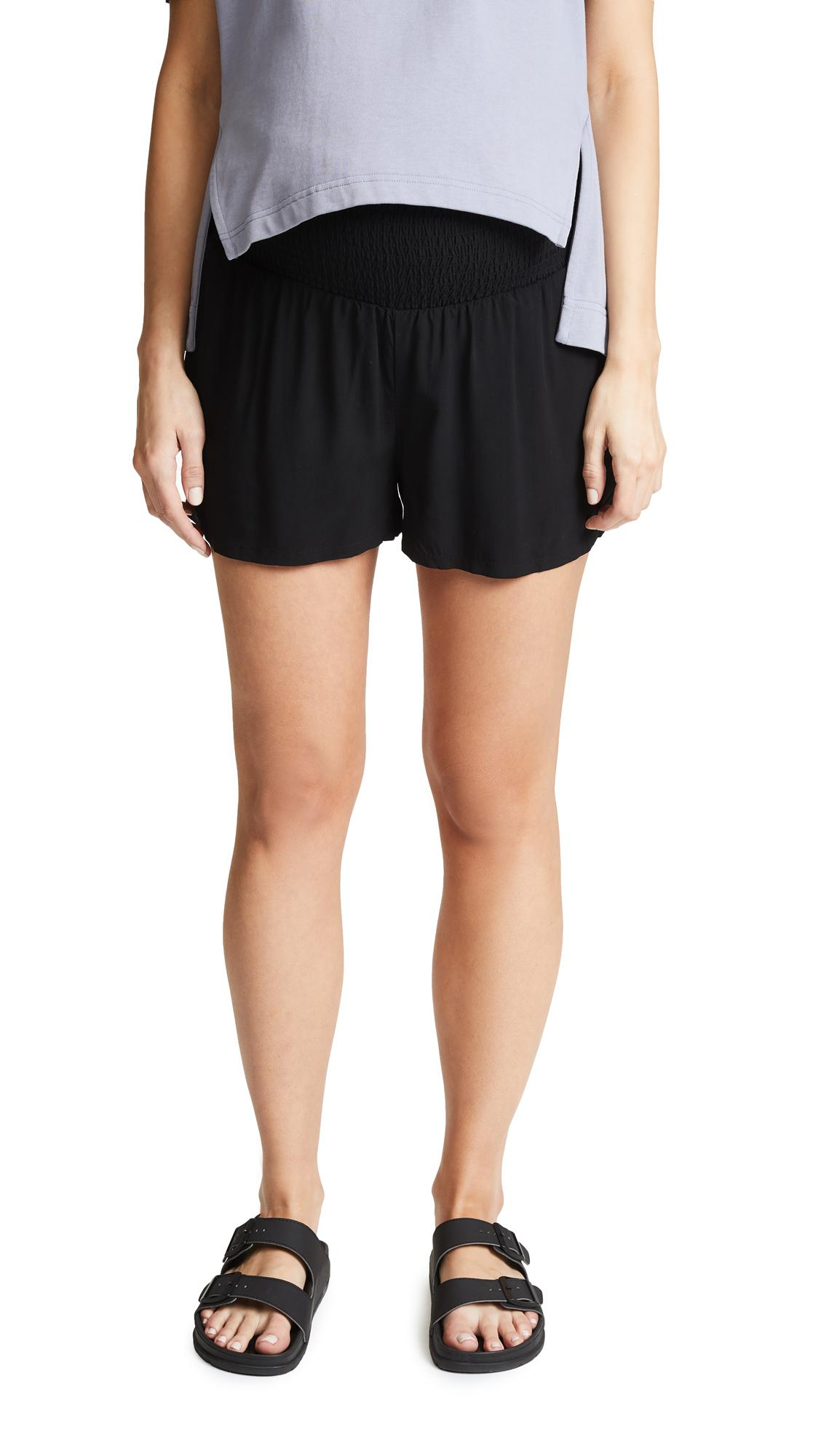 Hatch Easy Smocked Shorts In Black