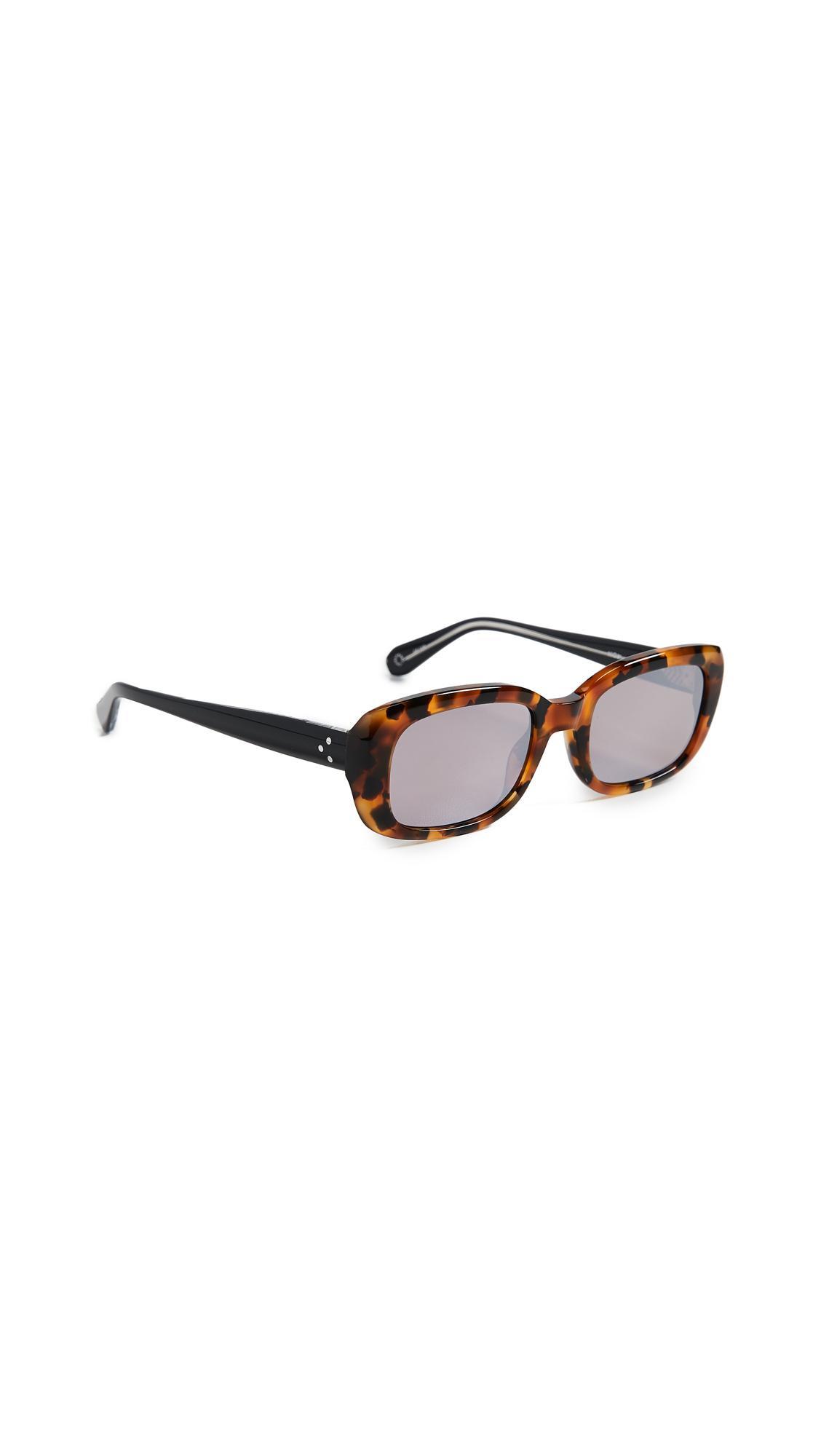 Krewe Milan Irregular Sunglasses In Havana Crystal Brown Gradient Modesens