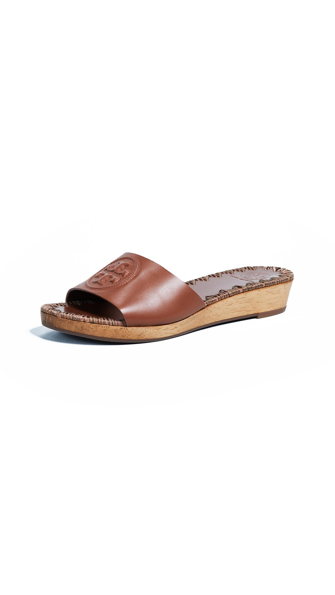 bc574f0b10b Tory Burch Patty 35Mm Wedge Slides In Perfect Cuoio