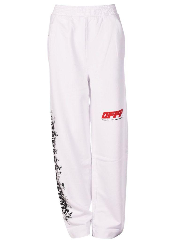 ff4c661a Off-White Off White Woman Motif Track Pants In White-Red | ModeSens