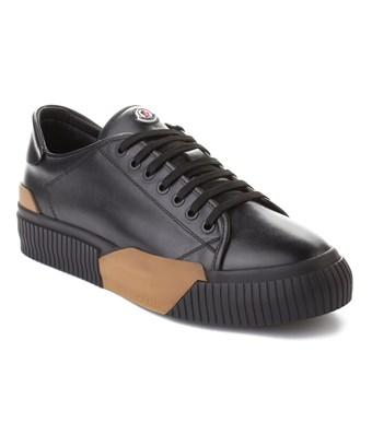 Moncler Men's Leather Conrad Sneaker Shoes Black