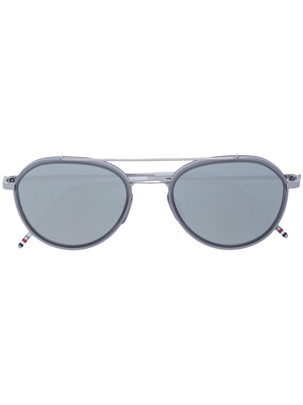 Modesens Metallic Mirror Aviator Browne Sunglasses Thom Eyewear pxHCBOnFq