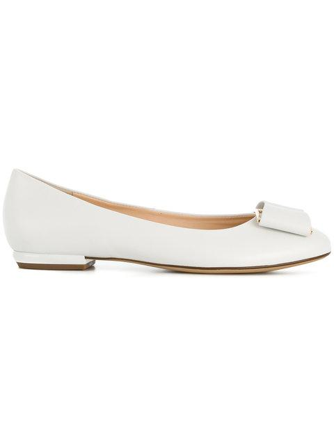 online store 07f72 68c8b Hogl Ballerinas Aus Leder - Weiß in White