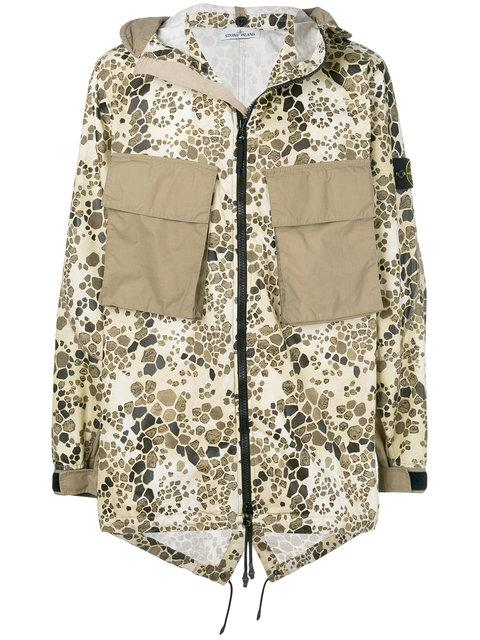dead00c4d538a Stone Island Alligator Camouflage Hooded Coat - Nude & Neutrals ...