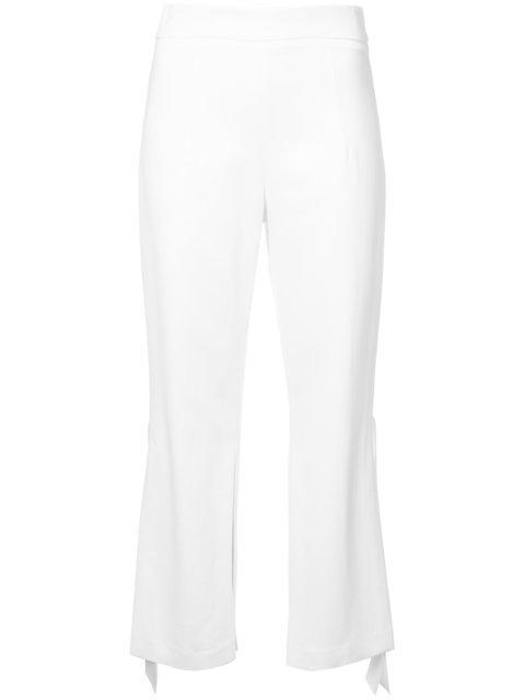 Cushnie Et Ochs Cushnie Flared Cropped Trousers - White