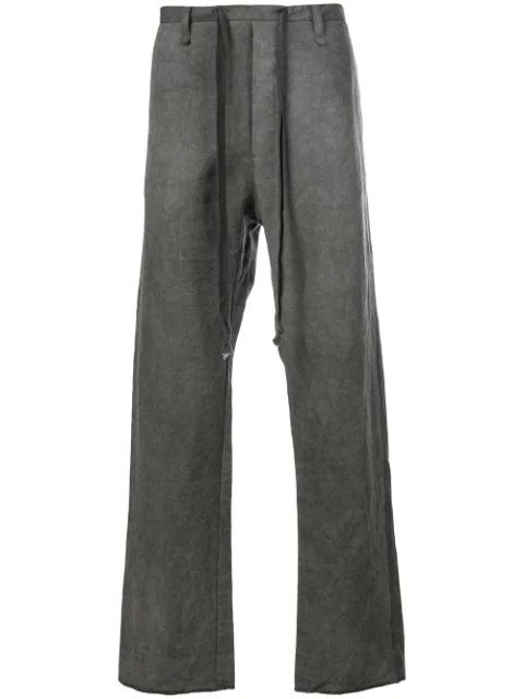 A Diciannoveventitre Straight Leg Trousers In Grey