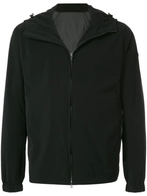 Attachment Zipped Hooded Sweatshirt In Black