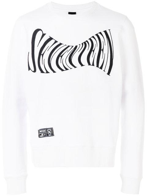 Ktz Seventeen Embroidered Sweatshirt - White
