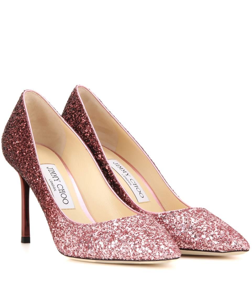 official classic shoes best value Romy 100 Ombré Glitter Pumps in Piek