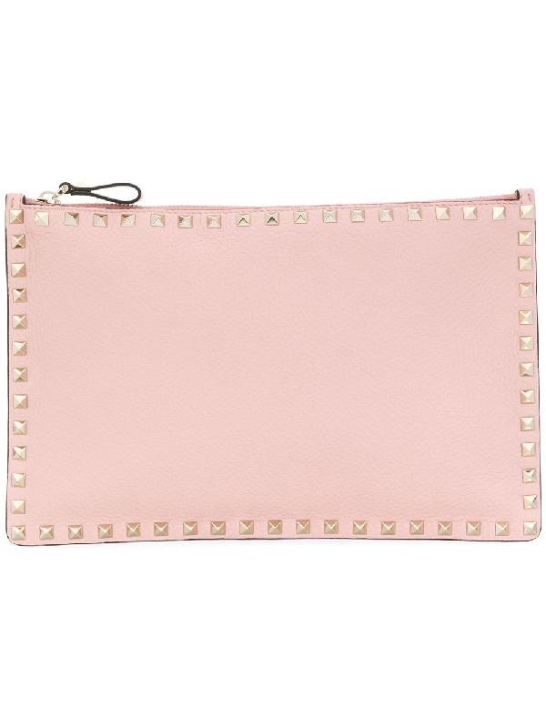 d1b83b8224b Valentino Garavani Rockstud Clutch - Pink In Pink & Purple   ModeSens
