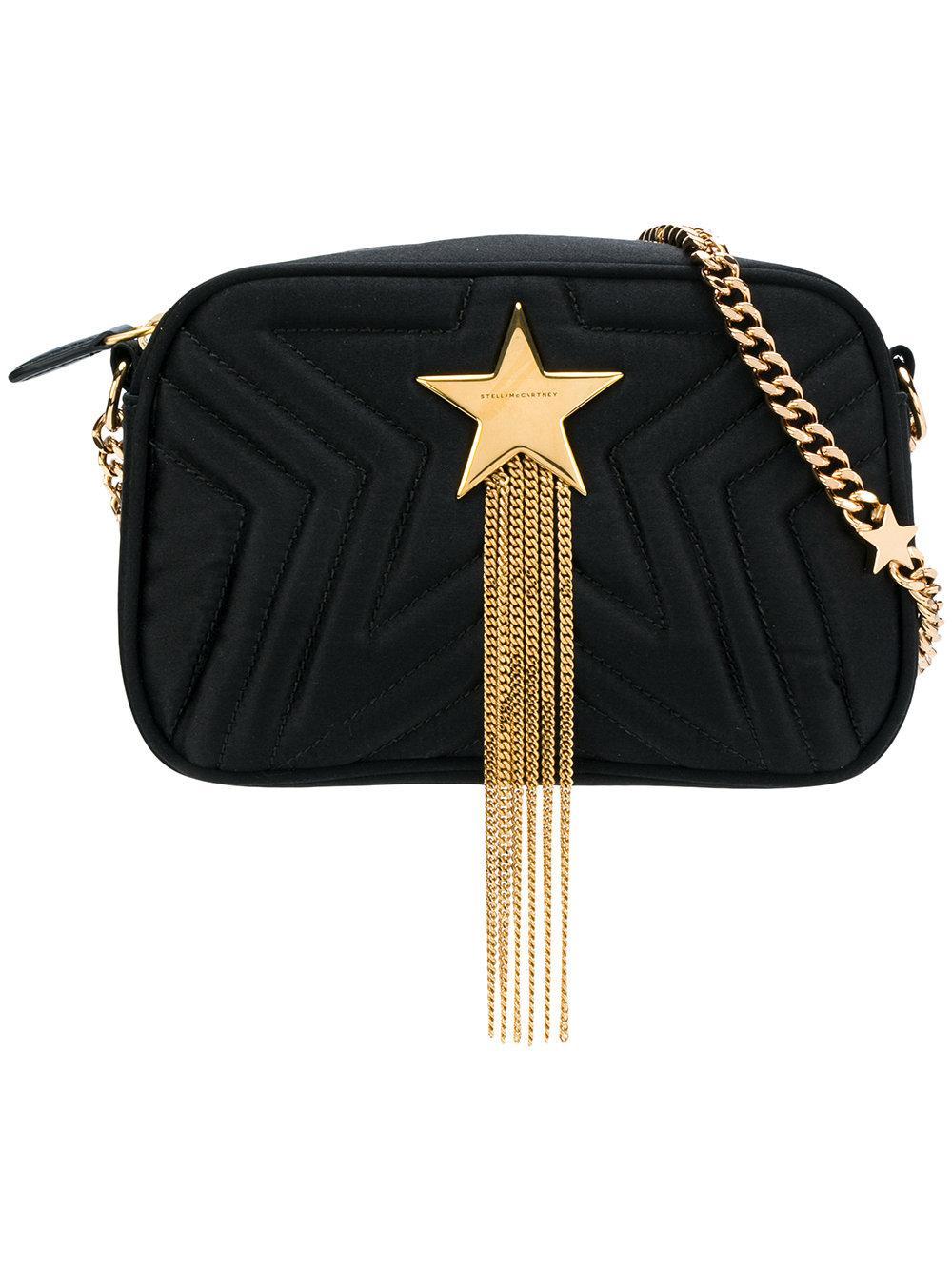 bc88b417a852 Stella Mccartney Mini Star Quilted Satin Camera Bag - Black