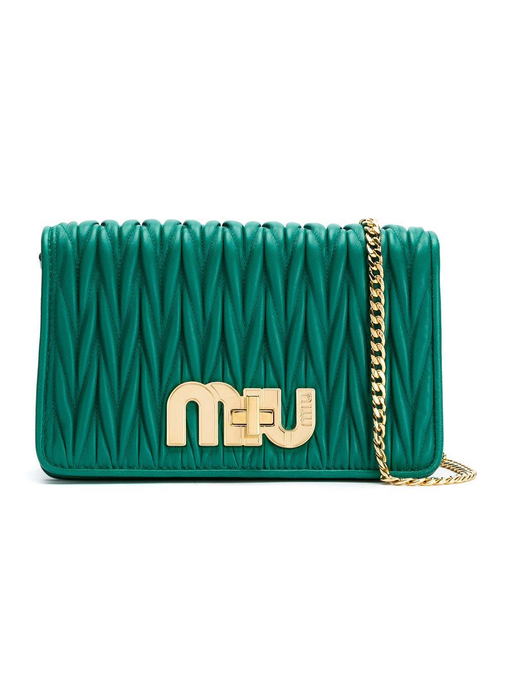 de67939e2e Miu Miu Matelassé 2Way Bag - Green