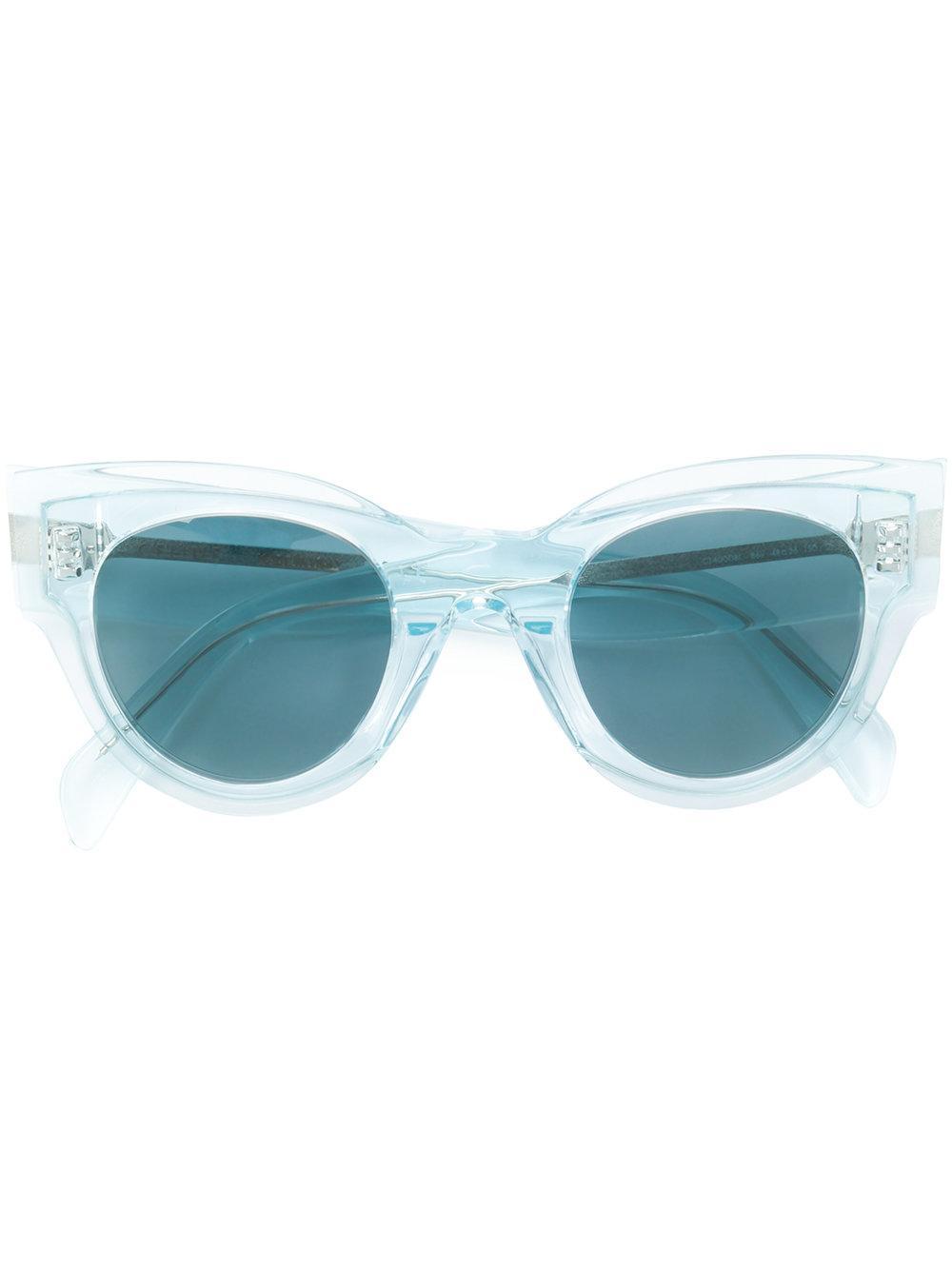 c7a2c40d487 Blue cat eye sunglasses from Céline Eyewear featuring cat eye frames