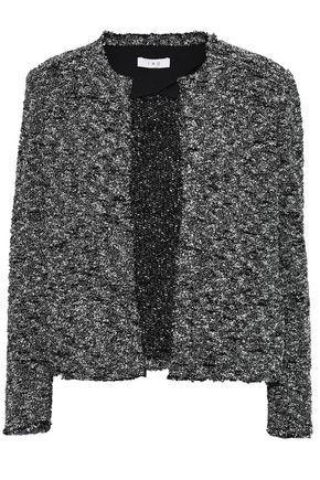 Iro Woman Frayed BouclÉ-Tweed Jacket Black