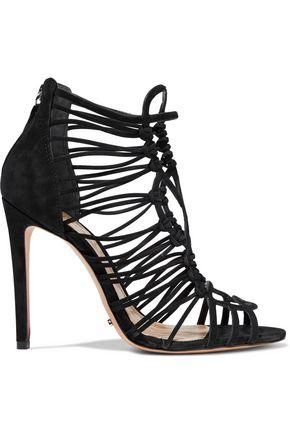 Schutz Woman Naama Nubuck Sandals Black