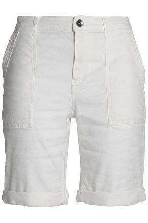 Splendid Woman Linen-blend Shorts Ivory
