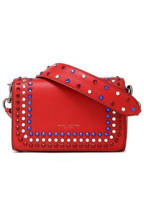 7f3e208d2cc5 Marc Jacobs Woman Crystal-Embellished Leather Shoulder Bag Red ...