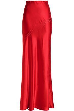 Amanda Wakeley Woman Silk-satin Maxi Skirt Red