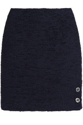 Claudie Pierlot Woman Cotton-blend BouclÉ Mini Skirt Midnight Blue