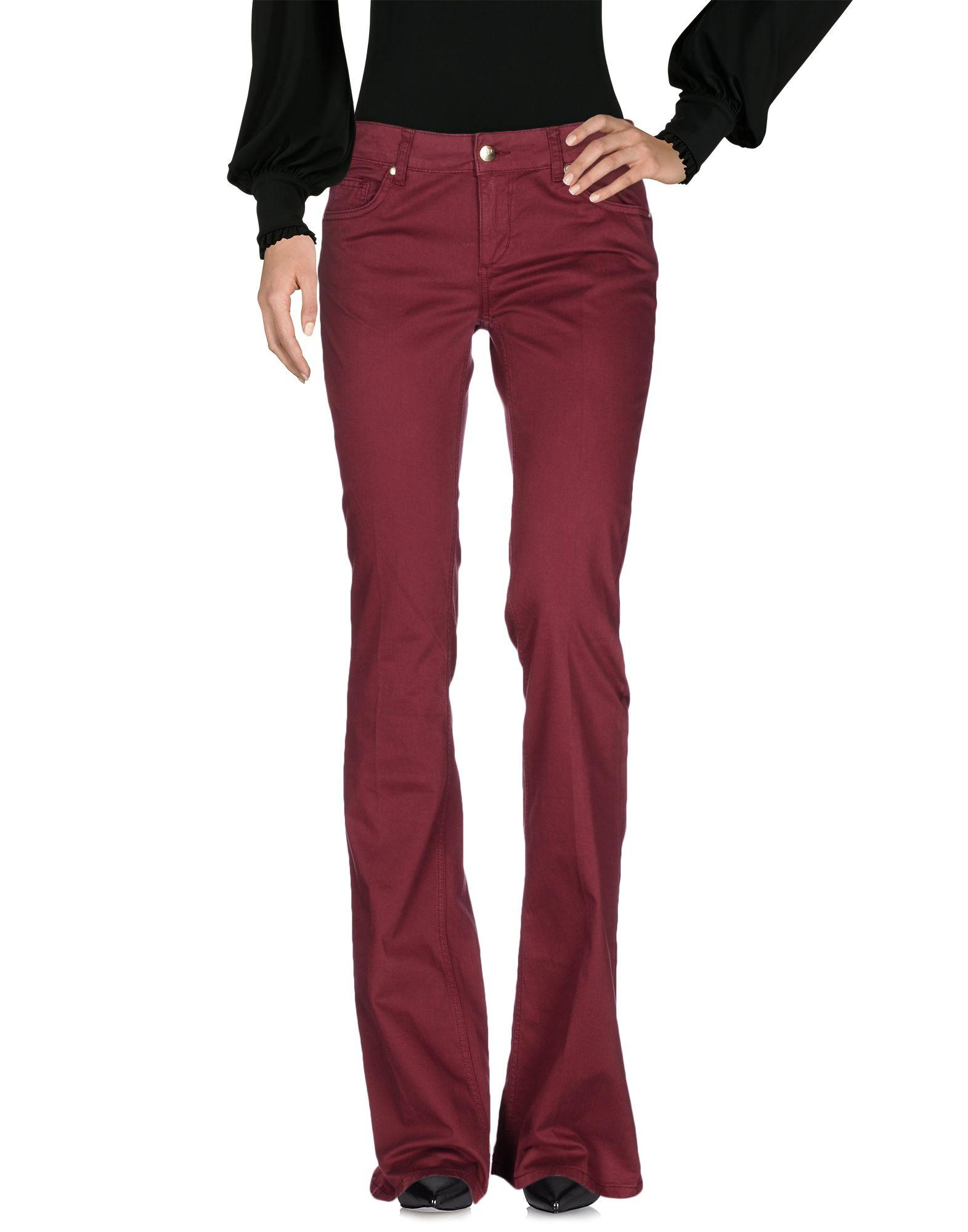 Liu •jo Casual Pants In Maroon