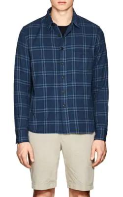 Simon Miller Thayne Plaid Cotton Shirt - Blue Pat.