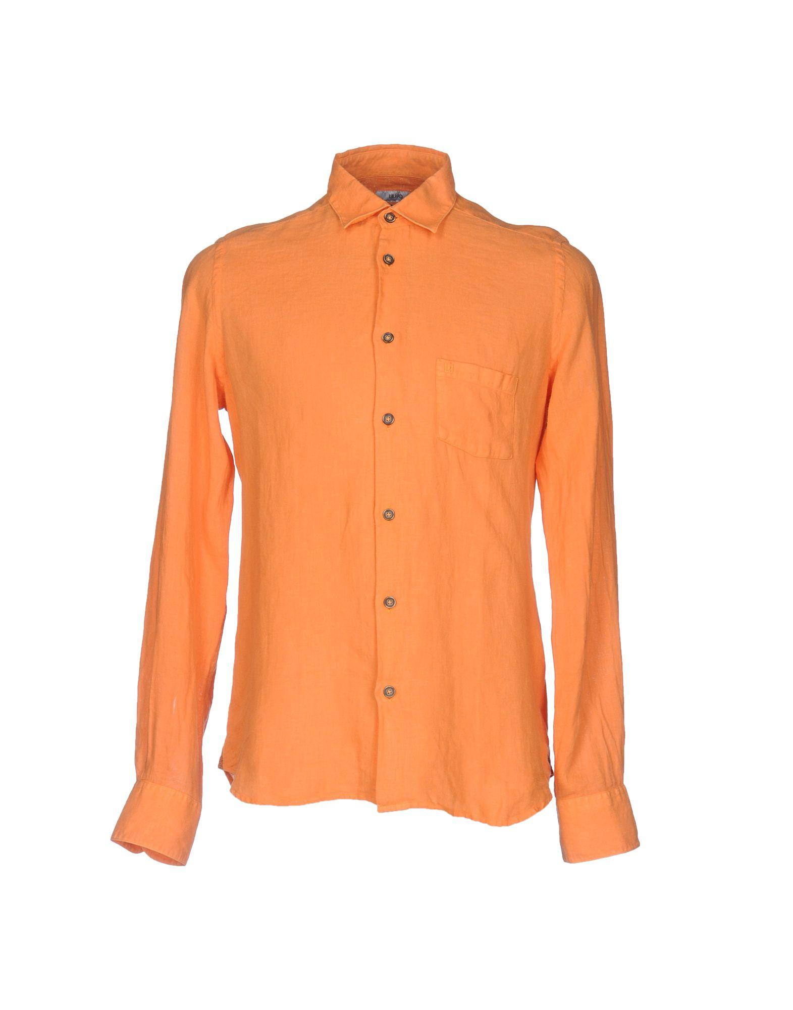 Liu •jo Linen Shirt In Orange